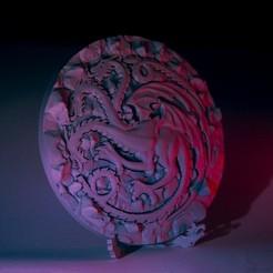 3D print model Targaryen Sigil, Lux3D