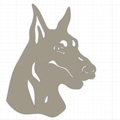 Download 3D printing templates Doberman, christianbulgarelli