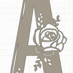 A.png Télécharger fichier STL Alphabet Fleur • Objet à imprimer en 3D, christianbulgarelli