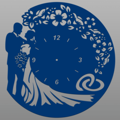 Schermata 2020-09-26 alle 20.19.26.png Download STL file Wedding Clock • 3D print template, christianbulgarelli