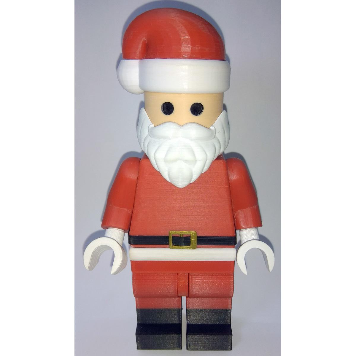 Lego_Minifig_-_Santa_Clause_4.jpg Download free STL file Jumbo Christmas - Santa Claus • 3D printer template, HowardB