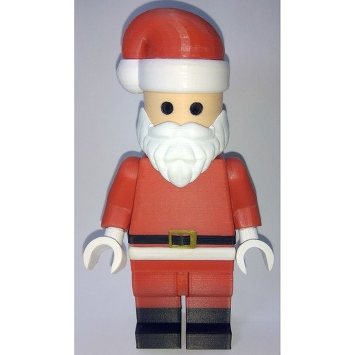 Lego_Minifig_-_Santa_Clause_4.jpg Télécharger fichier STL gratuit Noël géant - Père Noël • Modèle à imprimer en 3D, HowardB