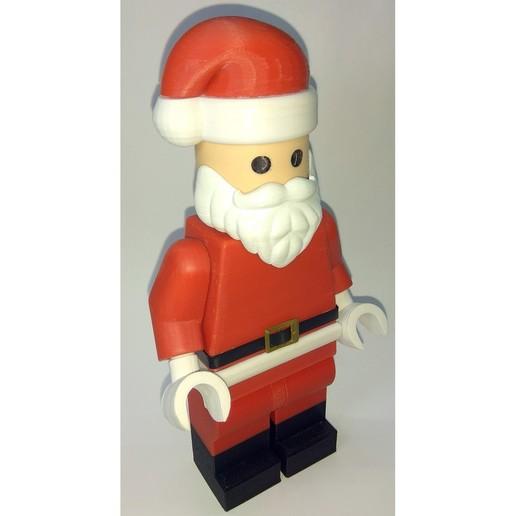 Lego_Minifig_-_Santa_Clause_6.jpg Télécharger fichier STL gratuit Noël géant - Père Noël • Modèle à imprimer en 3D, HowardB