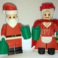 Lego_Minifig_-_Santa_Clause_15.jpg Télécharger fichier STL gratuit Noël géant - Père Noël • Modèle à imprimer en 3D, HowardB