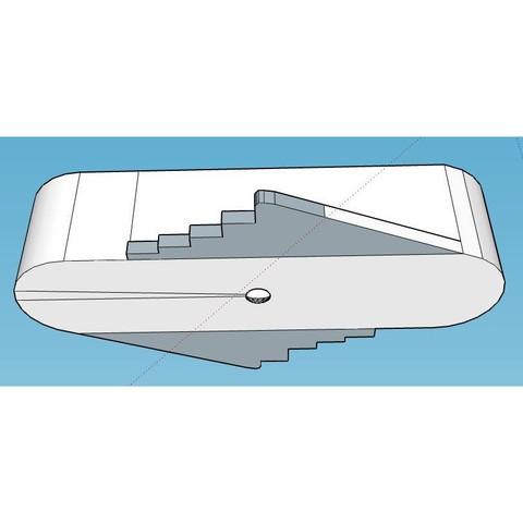 Rockler4.JPG Télécharger fichier STL gratuit Outil de marquage à décalage central de type Rockler (mm métrique) - avec aimants • Design imprimable en 3D, HowardB