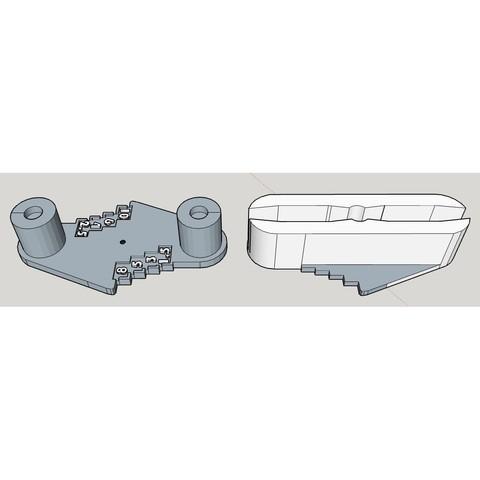 Rockler0.JPG Télécharger fichier STL gratuit Outil de marquage à décalage central de type Rockler (mm métrique) - avec aimants • Design imprimable en 3D, HowardB