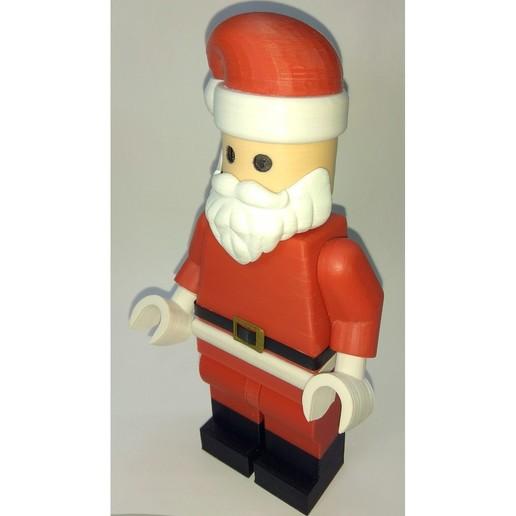 Lego_Minifig_-_Santa_Clause_5.jpg Télécharger fichier STL gratuit Noël géant - Père Noël • Modèle à imprimer en 3D, HowardB