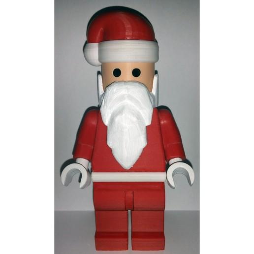 Lego_Minifig_-_Santa_Clause_1.jpg Télécharger fichier STL gratuit Noël géant - Père Noël • Modèle à imprimer en 3D, HowardB