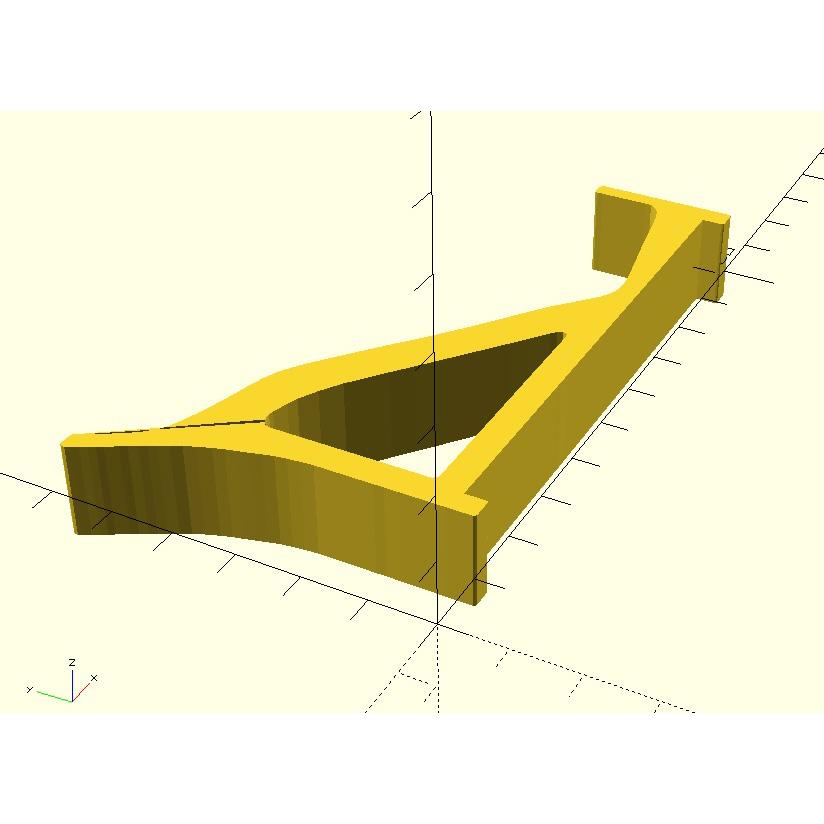 Soundbar_SCAD.jpg Download free STL file Samsung Soundbar Holders (for Samsung TV) • 3D printing object, HowardB