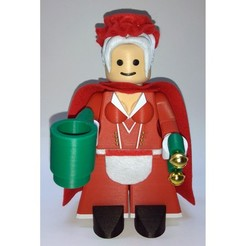 Free STL Jumbo Lego Christmas - Mrs Claus, HowardB