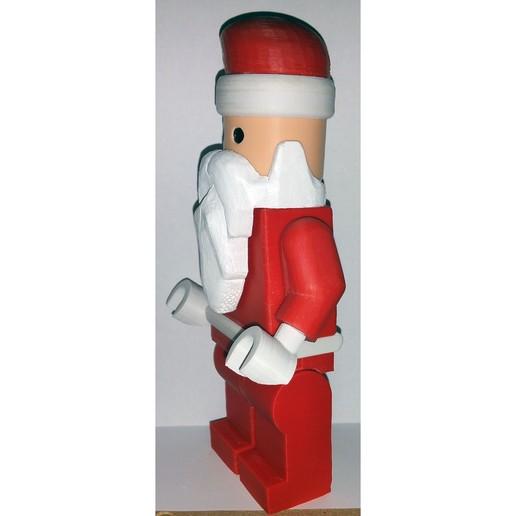 Lego_Minifig_-_Santa_Clause_2.jpg Télécharger fichier STL gratuit Noël géant - Père Noël • Modèle à imprimer en 3D, HowardB