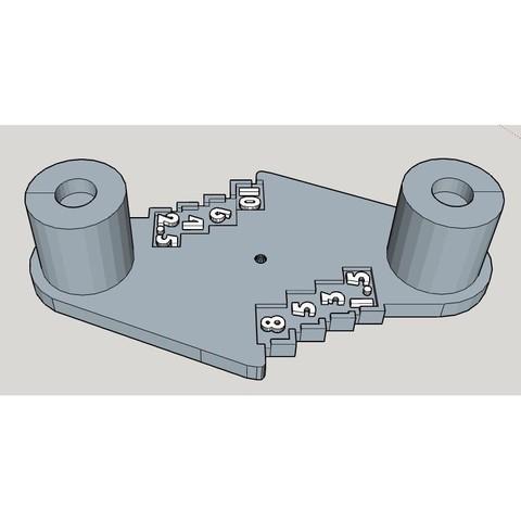 Rockler1.JPG Télécharger fichier STL gratuit Outil de marquage à décalage central de type Rockler (mm métrique) - avec aimants • Design imprimable en 3D, HowardB