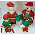 Fichier STL gratuit Jumbo Lego Christmas - Elfes - Bernard et Twinkle, HowardB