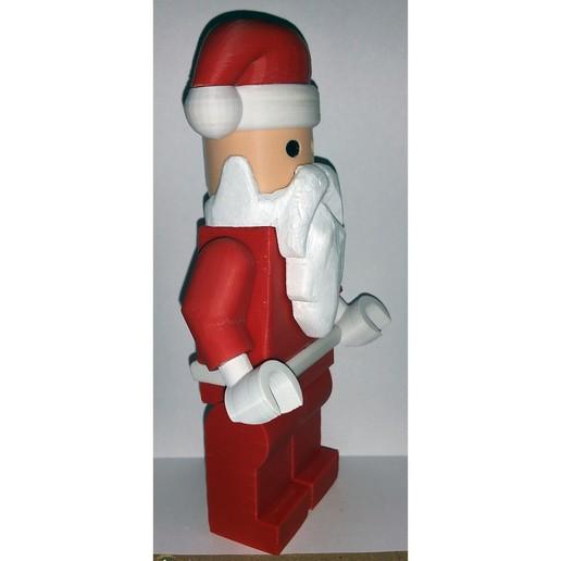 Lego_Minifig_-_Santa_Clause_3.jpg Télécharger fichier STL gratuit Noël géant - Père Noël • Modèle à imprimer en 3D, HowardB