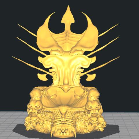 3D printer files predator clan leader throne, sebastianvalenciasandoval