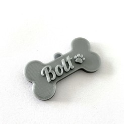IMG_1728.JPG Download STL file Pet Tag name / Simba and Bolt • 3D printing object, aliceluisa10