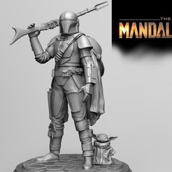 Download STL The mandalorian-Yoda baby, Vstudios