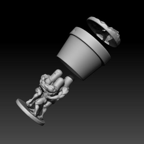 dugtrio presentacion final logo16.jpg Download STL file Dugtrio Funny 3D print model • 3D print object, Vstudios