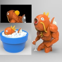 fhfghfh.jpg Download STL file MAGIKARP FUNNY piggy bank (NO SUPPORT) • 3D print object, Vstudios