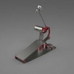 Render .jpg Download STL file Bass Drum Pedal  • 3D printable model, Geosanmo