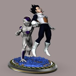 Download 3D model Freezer vs Vegeta, beihh1988