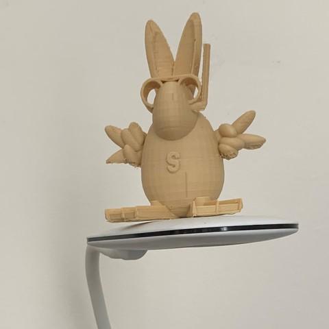 Télécharger modèle 3D gratuit Super lapin, idees-paris-3d