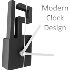 Free STL files Modern Clock Design, printing-your-home