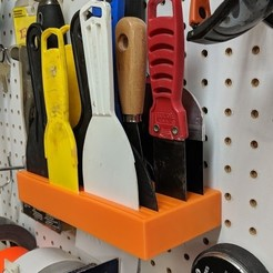 Download free 3D printing templates Putty Knife Holder for Pegboard, huberjer
