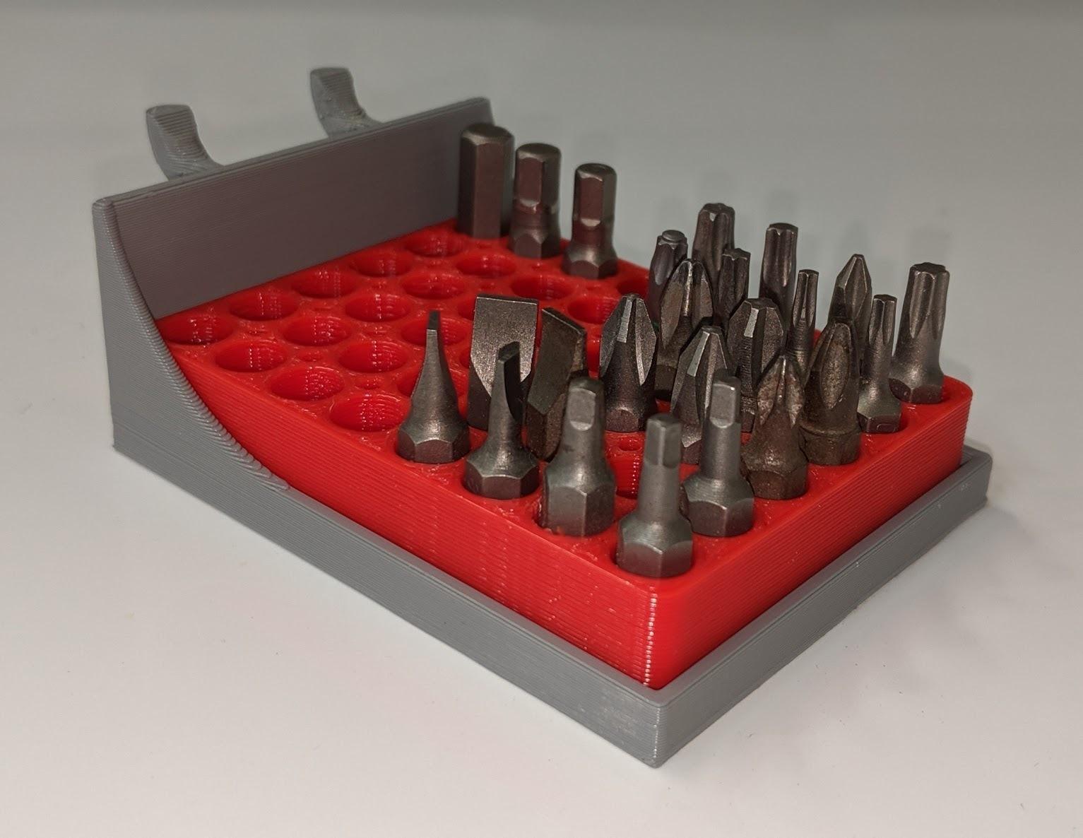 IMG_20190612_194836.jpg Download free STL file Pegboard Tray for hex bit holder • Design to 3D print, huberjer