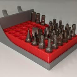 Impresiones 3D gratis Bandeja para el porta-puntas hexagonal, huberjer