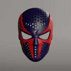 Download 3D printing templates Spiderman 2099 Face Shell, andrey_blend