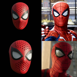 Download 3D printing files Spider-Man PS4 Face Shell, andrey_blend