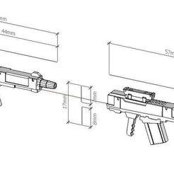 imitate_2.JPG Download free STL file gun for Hexa Gear vol.2 • 3D printer template, Jevalow