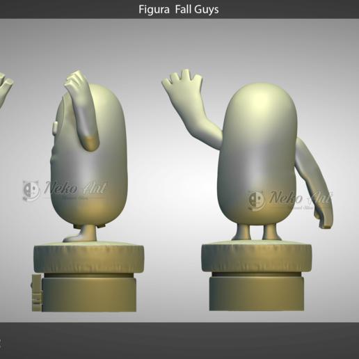 Descargar Modelos 3D Para Imprimir Gratis Figura Fall Guys