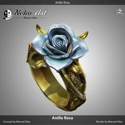 Descargar modelo 3D gratis Anillo Rose, neko_art_96
