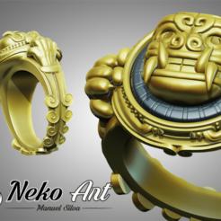 0.png Download STL file Anillo Chavin • 3D print model, neko_art_96