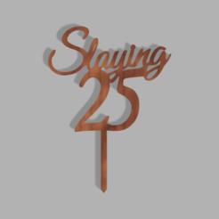 Slaying 25 v1.png Télécharger fichier STL Tueur de 25 garnitures de gâteaux • Design pour imprimante 3D, dkn2610