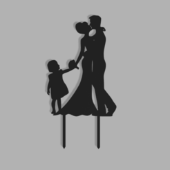 Family Wedding v2.png Download STL file Family Wedding Cake Topper • 3D printable object, dkn2610
