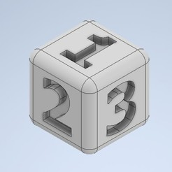 Download 3D printer designs Dice, dkn2610