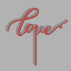 Love v1.png Download STL file Love Cake Topper • 3D printer object, dkn2610