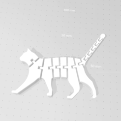 3D printer models Flex Cat, Th3King77