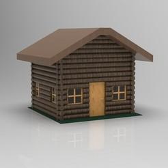 3D printer models Log Cabin, Hunterxhunt