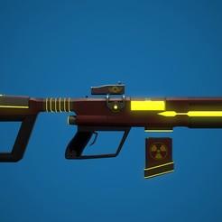 Reklam kapak fotoğrafı.jpg Télécharger fichier OBJ gratuit Fusil de science-fiction • Objet à imprimer en 3D, MageHandStudio