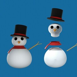 kapak deneme 1.jpg Download OBJ file Snowman • Object to 3D print, MageHandStudio