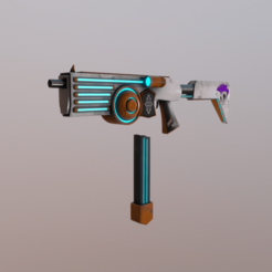 Reklam ilk görsel.png Download free OBJ file Sci-fi SMG  • Template to 3D print, MageHandStudio