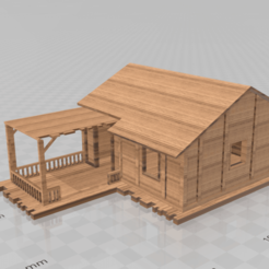 Download STL files Wooden House (One), Preston_ac