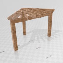 Télécharger fichier STL gratuit Pergolas d'angle • Objet à imprimer en 3D, Preston_ac