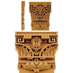 Download 3D printing templates Capitel ornament, Villy3D