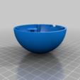 sensor_sphere_bottom_v2_3.png Download free STL file Temperature, humidity, lux meter with LAN • 3D print model, marigu