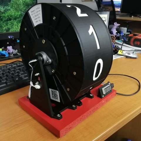 db2613f130cbc4880de2d8b276547a04_display_large.jpg Télécharger fichier STL gratuit Horloge à bobine à filament • Design pour imprimante 3D, marigu